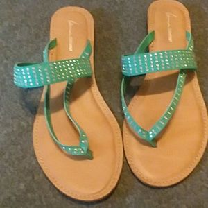 Lane Bryant sandals with sparkles